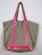 Sac cabas lin, sac cabas vanessa bruno, sac cabas sequins, sac plage, sac soldé, sac paillettes rose fluo, sac plage lin, sac fourre tout