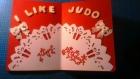 Carte 3d pour anniversaire homme thème judo