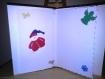 Carte de voeux en 3d et décoration pergamano thème noël