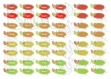 Etiquettes rondes - bulles + tag rubriques aux couleurs automnales