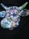 Animaux tête de vache papier mâché collages thème marvel spiderman déco murale