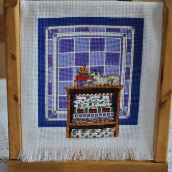 cadre petite maison decoration murale maison par roselyne. Black Bedroom Furniture Sets. Home Design Ideas