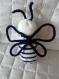 Doudou abeille bleue