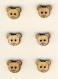 Bouton en bois découpé forme tête d'ourson