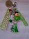 Bijoux de sac fleur verte
