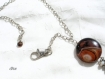 Collier ethnique en agate feu  co692