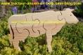 Petite vache en bois - puzzle