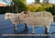Puzzle petit mouton  en bois massif