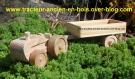 Tracteur teuf-teuf avec sa remorque