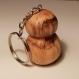 Porte clef petit champignon en bois massif