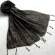 Foulard & perles ref. 005* - marron et noir