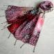 Foulard & perles ref. 006 - motif abstrait