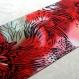 Foulard & perles ref. 006* - motif abstrait