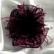 Petite barrette fleur en tissu & plumes et perles 181*