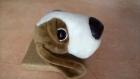 Trophée chien basset en peluche  pour décoration