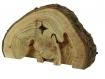Crèche de noël en bois de thuya