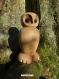 Chouette en chêne sculpté