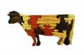 Puzzle marguerite : vache normande en bois