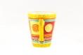 Mug / tasse  30 cl en porcelaine peint à la main couleurs jaune et multicolore