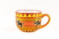 Grosse tasse a thé 50 cl en porcelaine peint à la main motif éléphant