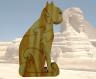 Puzzle sphinx: chat en bois