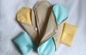 Lot de 3 serviettes hygiéniques lavables shl coton bio
