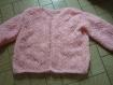 Liseuse au tricot rose  40/42