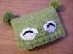 Bonnet bébé grenouille