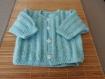 Gilet bébé  0/3 mois,vert pâle