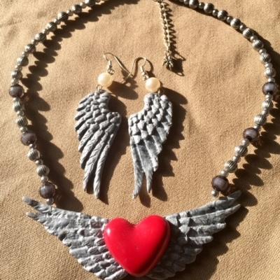 Collier les ailes d'ange