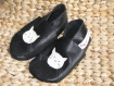 Chausson cuir - fille - bleu marine/chat - taille 28