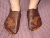 Chausson cuir - fille - marron/cheval - taille 33