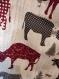 Tablier vache rouge