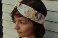 Headband imprimé rose