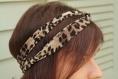 Headband vrillé léopard