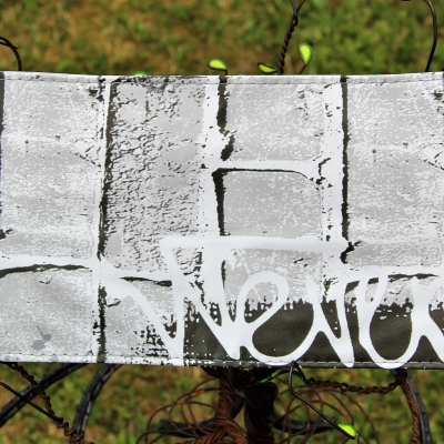 Porte cartes fidélités en toile cirée motifs « urbain », entièrement doublé – création artisanale