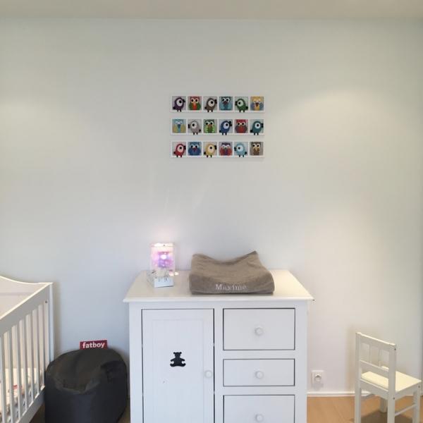 Décoration chambre bébé tons orange brun - animaux des bois ...