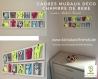 Cadeau de naissance original . cadre mural deco pour la chambre de bébé - 'thème la petite ferme'