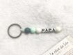 Porte clé cadeau papa maman bébé perles