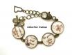 S.6.364 bijou mamie porte-clés bijou de sac clé mamie clé coeur noeud bijou fantaisie bronze bijou de sac porte clés cabochon verre cadeau mamie cadeau fête des grands-mères (série 2)