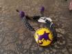 Bracelet chat violet