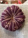 Broche  fleur japonaise coton mélangé chocolat