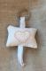 Porte clefs point de croix coeurs