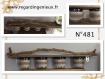 Etagere en bois flotte avec 4 pots toile de jute n°481. fabrication artisanale.