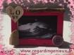 Mini cadre photo rose n°512. fabrication artisanale