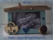 Mini cadre photo bleu n°516. fabrication artisanale