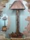 Lampe avec corde n°667 en bois flotte.  fabrication artisanale.