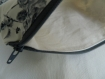 Trousse à maquillage, pochette zippée en tissu roses grises et coton bio avec fermeture zippée