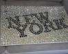 Cadre new york en mosaïque miroir