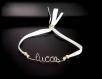 Bracelet prénom personnalisable à message en gold filled or 14 carats